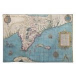 Historical Map of Florida (1591) Cloth Place Mat