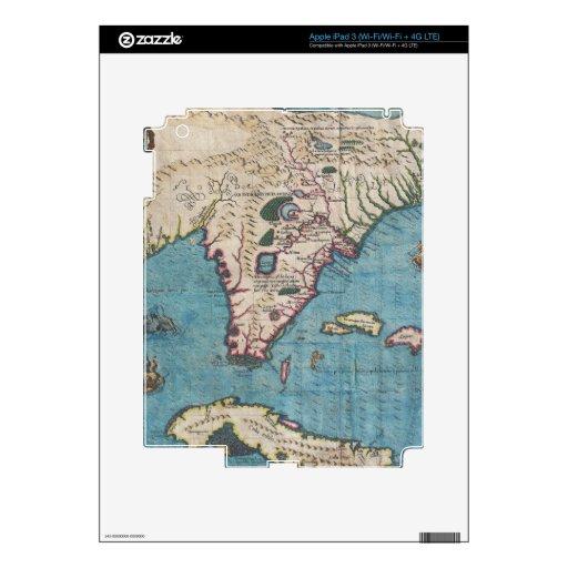 Historical Map of Florida (1591) iPad 3 Skins