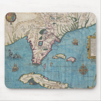 Historical Map of Florida (1591) Mouse Pad