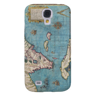 Historical Map of Florida (1591) Samsung Galaxy S4 Case
