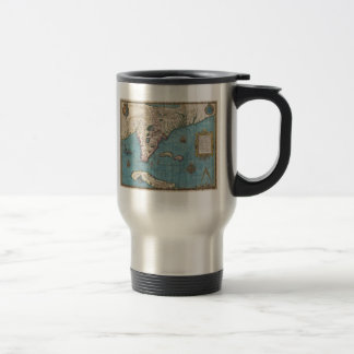 Historical Map of Florida (1591) Travel Mug