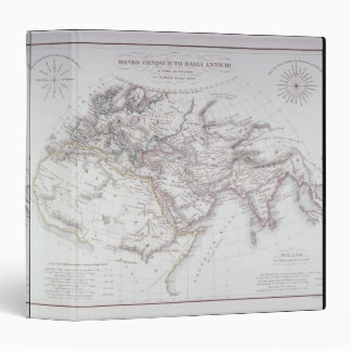 Historical Map of the Known World 3 Ring Binder