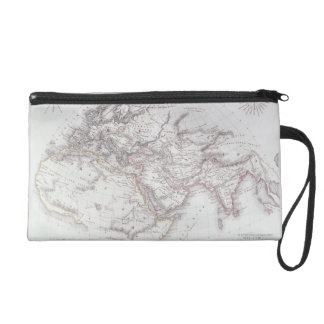 Historical Map of the Known World Wristlet Purse
