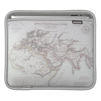 Historical Map of the Known World Sleeve For iPads
