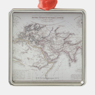 Historical Map of the Known World Metal Ornament