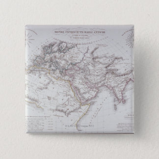 Historical Map of the Known World Pinback Button