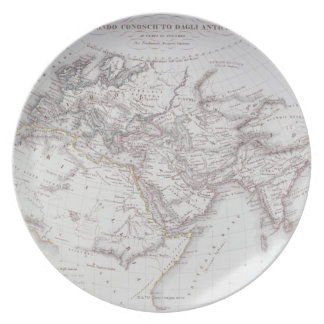 Historical Map of the Known World Dinner Plate