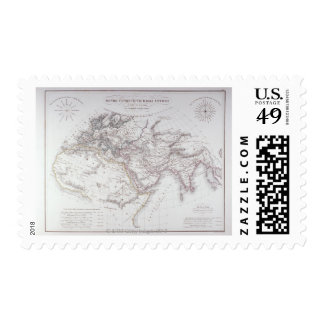 Historical Map of the Known World Stamp