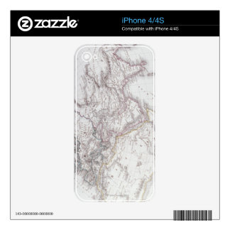 Historical Map of the Known World Decal For iPhone 4S