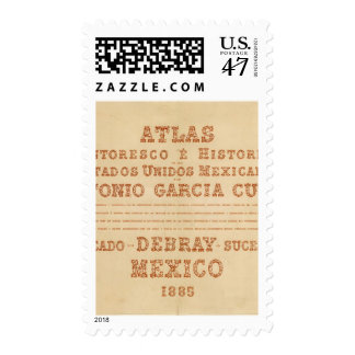 Historical Map Title Page Postage