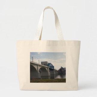 Historical Market St Bridge Tote Bags