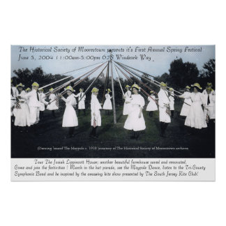 Historical Maypole Photo Poster