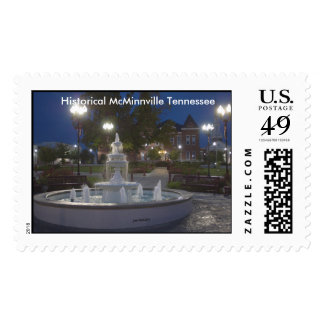 Historical McMinnville Tennessee Before Sunrise Postage