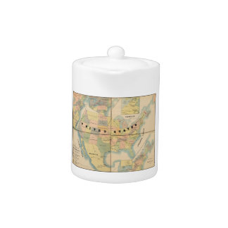 Historical Military Map of the United States 1890 Teapot