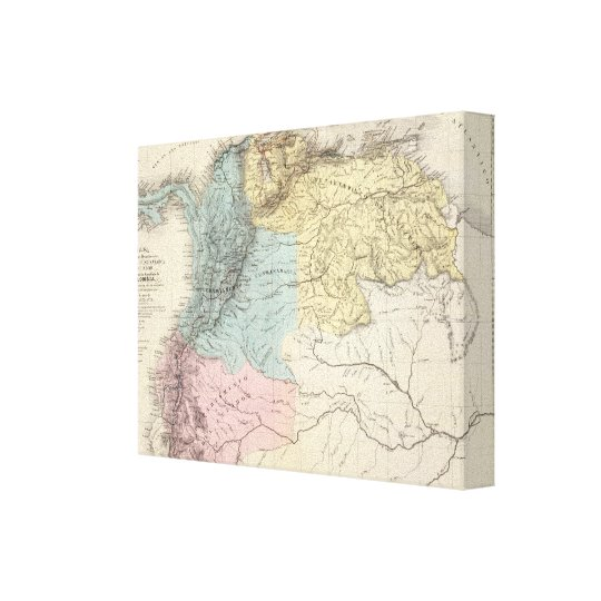 Historical Military Maps of Venezuela Canvas Print