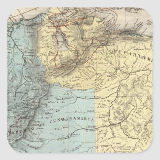 Historical Military Maps of Venezuela Square Sticker
