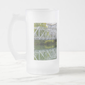 Historical Mill And Bridge Ozark Frosted Glass Beer Mug