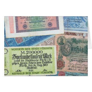 Historical Money Greeting Card