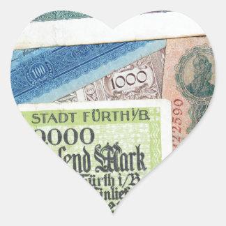 Historical Money Heart Sticker