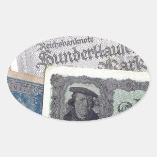 Historical Money Oval Sticker