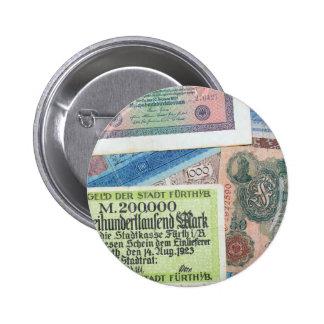 Historical Money Pinback Button
