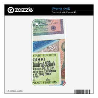 Historical Money iPhone 4S Skin