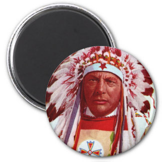 Historical Native American Painting Magnet