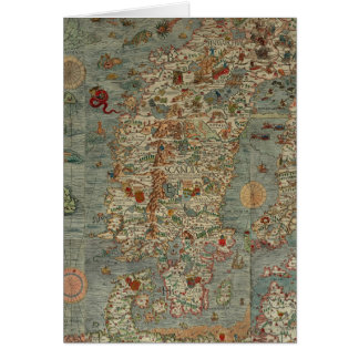 Historical Northern Europe Map Card
