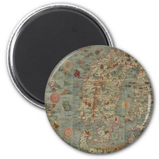 Historical Northern Europe Map Magnet