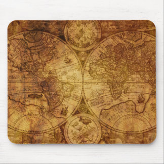 Historical Old Antique World Map Mouse Pad
