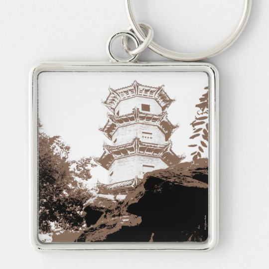 Historical Pagoda Keychain