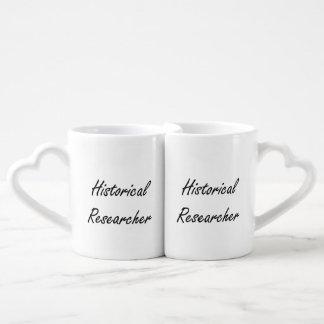 Historical Researcher Artistic Job Design Couples' Coffee Mug Set