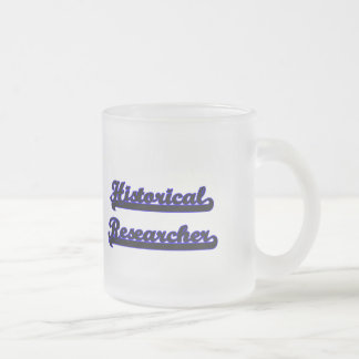 Historical Researcher Classic Job Design 10 Oz Frosted Glass Coffee Mug