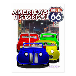 HISTORICAL ROUTE 66 POSTCARD