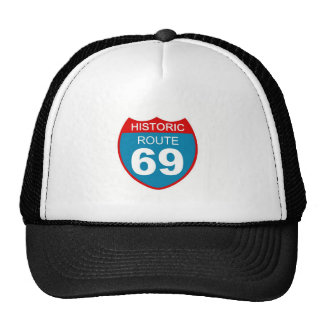 Historical Route 69 Trucker Hats