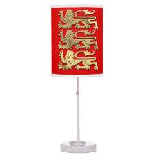Historical Royal Arms of England Desk Lamp