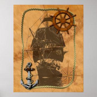 Historical Sailing Ship Print