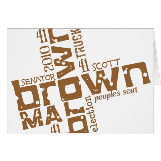 Historical Scott Brown Stationery Note Card