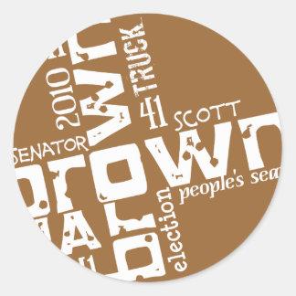 Historical Scott Brown Classic Round Sticker