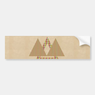 Historical Style PYRAMID Triangle Energy Border Bumper Stickers