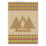 Historical Style PYRAMID Triangle Energy Border Greeting Card