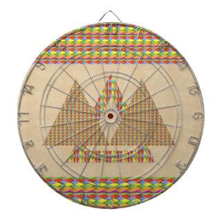Historical Style PYRAMID Triangle Energy Border Dartboard With Darts
