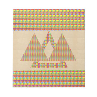 Historical Style PYRAMID Triangle Energy Border Note Pads