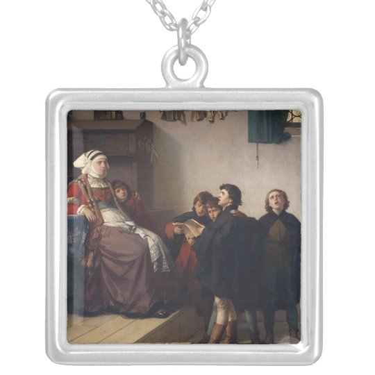 Historical theme, 1872 silver plated necklace