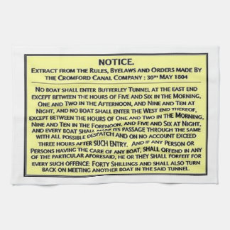 Historical UK Inland Waterways Canal Sign Cromford Kitchen Towel