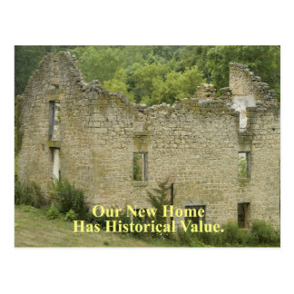Historical Value Home 2 - Funny Change of Address Postcard