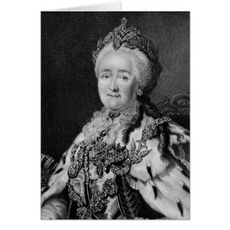 Historical Women - Catherine the Great Card