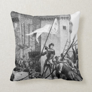 Historical Women - Joan of Arc Throw Pillow