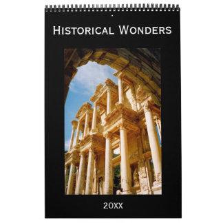 historical wonders calendar