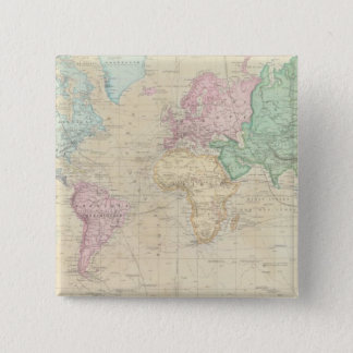 Historical World Map 2 Pinback Button